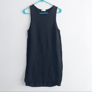 Aritzia Babaton Robe Florian Black Tank Dress M